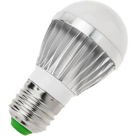 BeMatik - Bombilla LED G45 E27 230VAC 3W luz fría