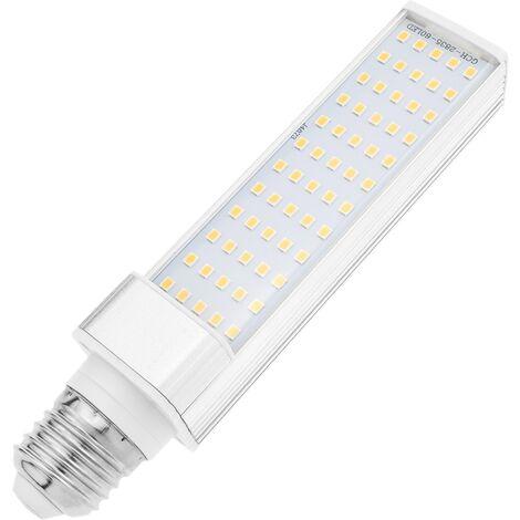 BeMatik - Bombilla LED PLC E27 85-265VAC 10W. Lámpara de tubo de luz cálida