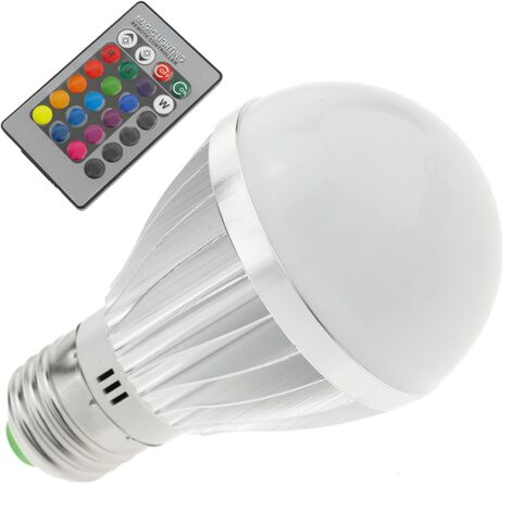 BeMatik - Bombilla LED RGB 3W con mando a distancia