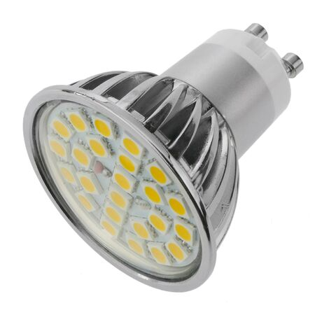 BeMatik - Bombilla LED SMD GU10 230VAC 4W 120° 50mm luz cálida