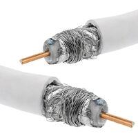 BeMatik Organizador de Cables Funda Blanca en Espiral de 6-60 mm Longitud 2,5 m