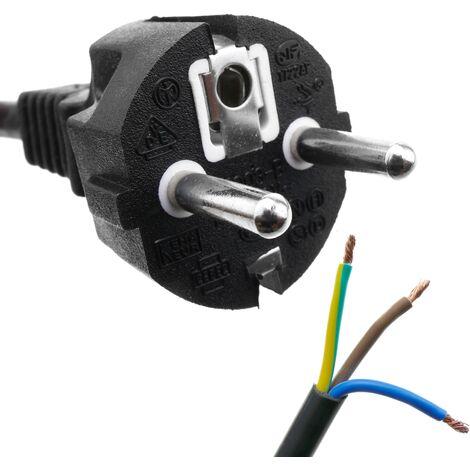 BeMatik - Câble d'alimentation H05VV-F 5m straight schuko à ouvert 3x1.50mm²