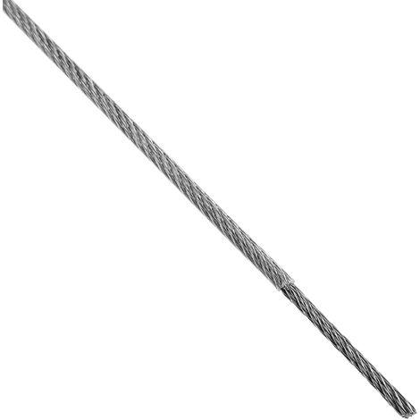 BeMatik - Cable de acero inoxidable de 1,5 mm. Bobina de 50 m. Recubierto de plástico transparente