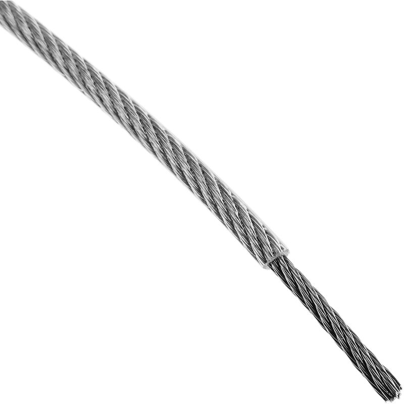 Cable de Acero Inoxidable de 2,0 mm en Bobina de 25 m BeMatik