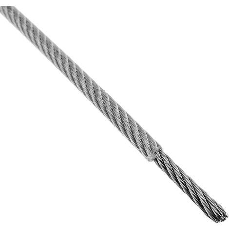 Cable de Acero Inoxidable de 4,0 mm en Bobina de 50 m BeMatik