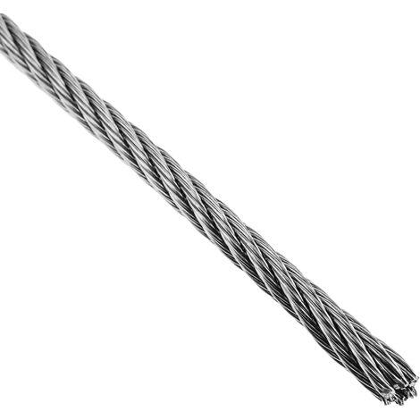BeMatik - Cable de acero inoxidable de 4,0 mm en bobina de 10 m