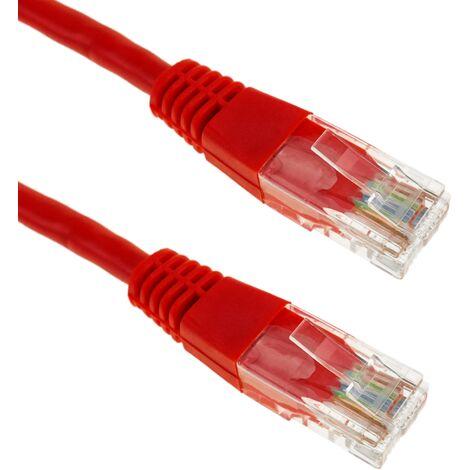 BeMatik - Cable de red ethernet 5m UTP categoría 5e Rojo