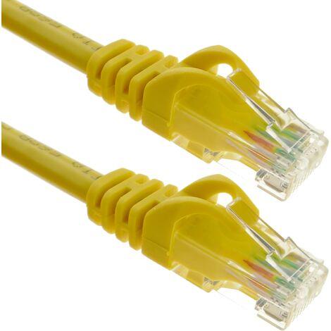 BeMatik - Cable de red ethernet LAN UTP RJ45 Cat.6a amarillo 50 cm