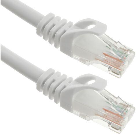 BeMatik - Cable de red ethernet LAN UTP RJ45 Cat.6a blanco 50 cm