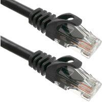 BeMatik - Cable de red ethernet LAN UTP RJ45 Cat.6a negro 1 m