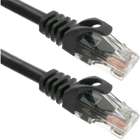 BeMatik - Cable de red ethernet LAN UTP RJ45 Cat.6a negro 50 cm