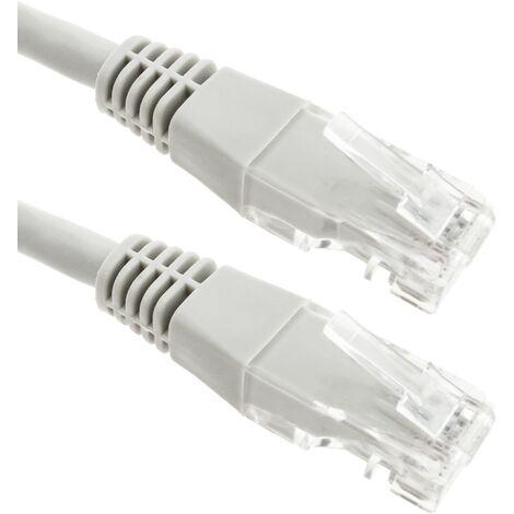 BeMatik - Cable de red ethernet LAN UTP RJ45 de Cat.6 gris de 10m