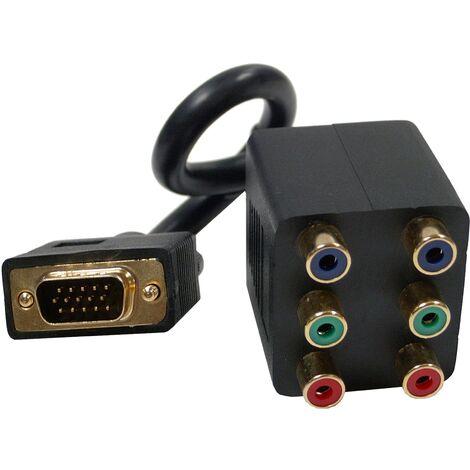BeMatik - Cable Duplicador Pasivo (1 VGA a 2 3xRCA-H)