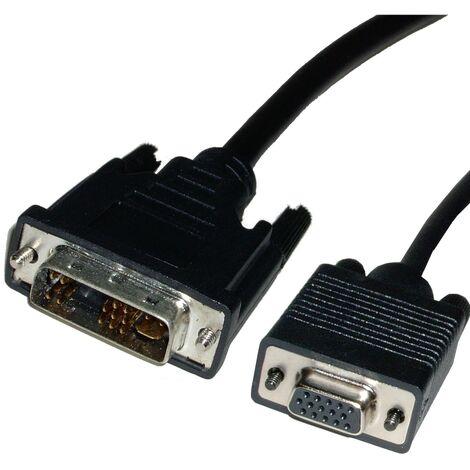BeMatik - Cable DVI-A male to VGA female 1.8 m