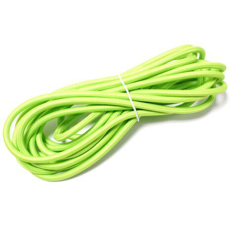 BeMatik - Cable eléctrico decorativo de tela 5m 2x0.75mm de color verde