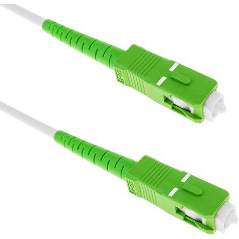 BeMatik - Câble fibre optique SC/APC à SC/APC monomode SMF SX OS2 simplex 9/125 blindé 10 m