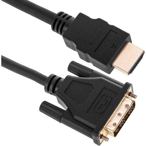 BeMatik - Cable HDMI de tipo HDMI-A macho a DVI-D macho de 5 m
