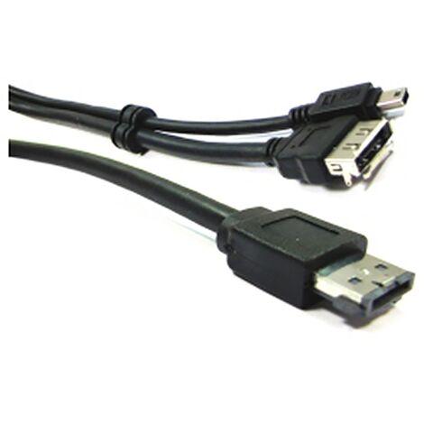 BeMatik - Cable or eSATA + USB eSATAp (M/MiniUSB5pin-BM + eSATA-H) 1m