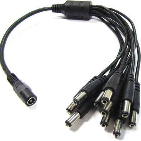 BeMatik - Cable power multiplier 10 DC-jack 3.5 mm male