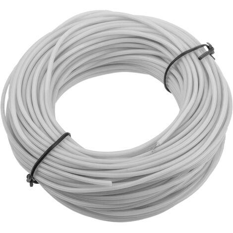 BeMatik - Cable transparent-white electroluminescent 2.3mm coil 25m