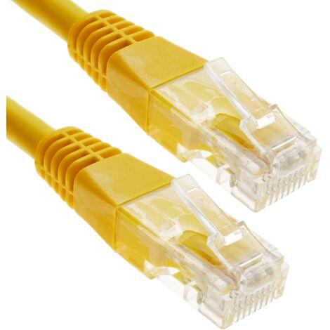 BeMatik - Cable UTP categoría 6 amarillo 25cm
