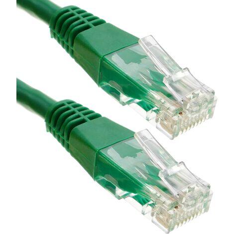 BeMatik - Cable UTP categoría 6 verde 25cm