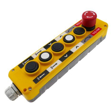 BeMatik - Caja de 2+2+1 pulsadores momentáneos y parada de emergencia de la serie LAY5