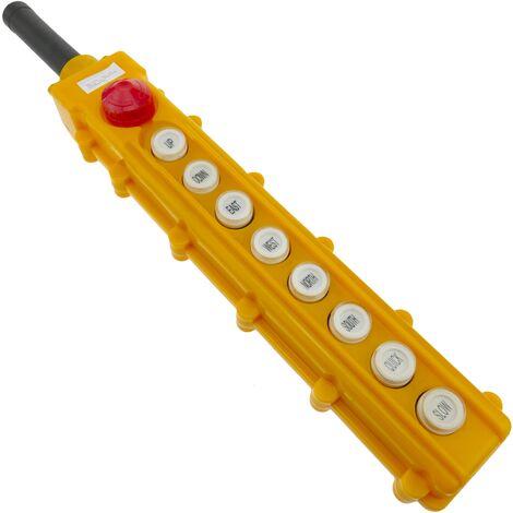 BeMatik - Caja de 2+2+2+2 pulsadores momentaneos y parada de emergencia de la serie COB