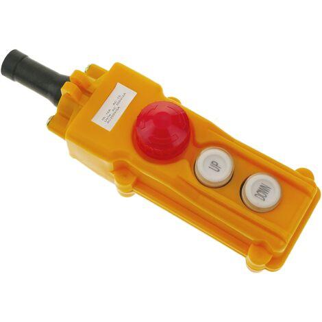 BeMatik - Caja de 2 pulsadores momentaneos y parada de emergencia de la serie COB