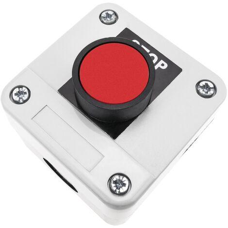 BeMatik - Caja de control con 1 pulsador momentaneo rojo 1NC