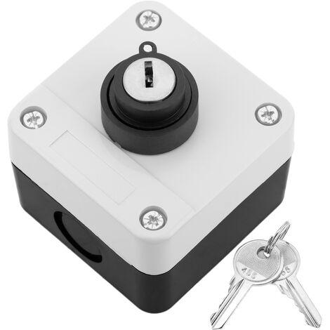 BeMatik - Caja de control con 1 selector 1NO 1NC con llave