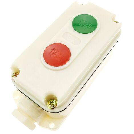 BeMatik - Caja de control con 2 pulsador momentaneo 1NO 1NC LA5821-1