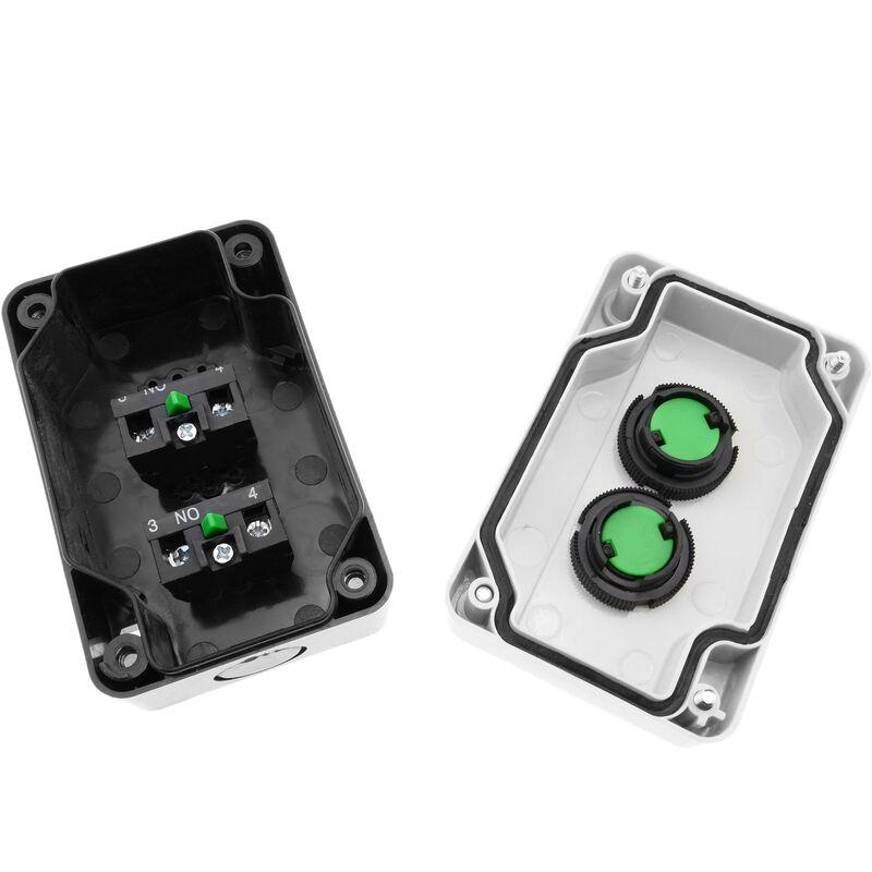 Caja de control con 2 pulsadores momentaneos con flechas 2NO BeMatik