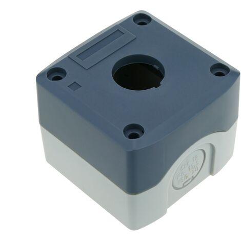 BeMatik - Caja de control de dispositivos eléctricos para 1 pulsador o interruptor de 22 mm gris