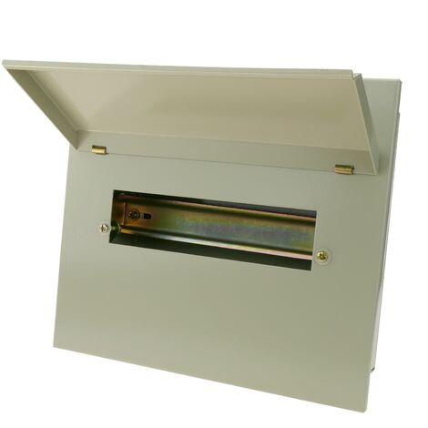 BeMatik - Caja de distribución eléctrica de 10 módulos 18mm IP40 para empotrar de metal SPN