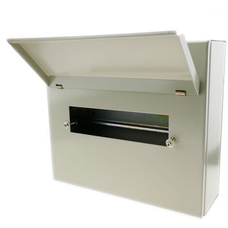 BeMatik - Caja de distribución eléctrica de 10 módulos 18mm IP40 para superficie de metal SPN