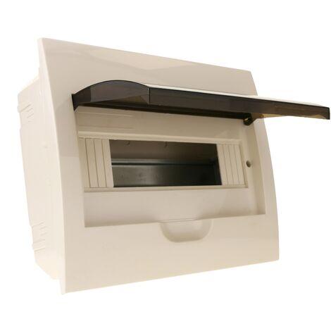 BeMatik - Caja de distribución eléctrica de 12 módulos de empotrar de plástico ABS SPN IP40