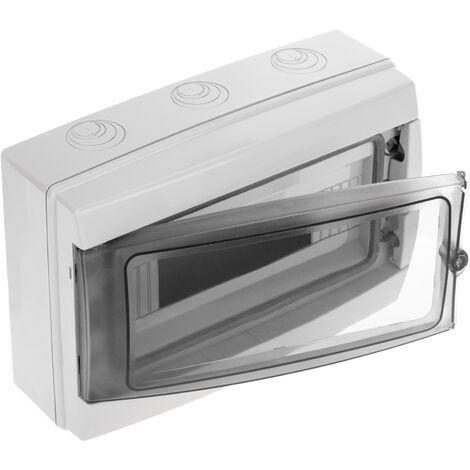 BeMatik - Caja de distribución eléctrica de 12 módulos de superficie de plástico ABS SPN IP65 HA