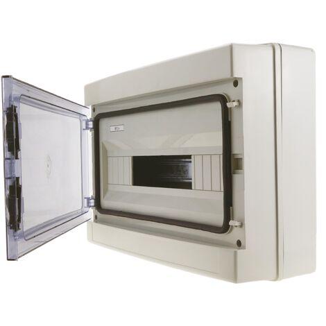 BeMatik - Caja de distribución eléctrica de 18 módulos de superficie de plástico ABS SPN IP65 HA