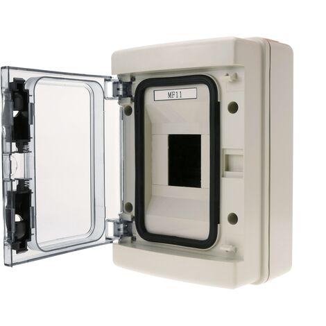 BeMatik - Caja de distribución eléctrica de 4 módulos de superficie de plástico ABS SPN IP65 HA