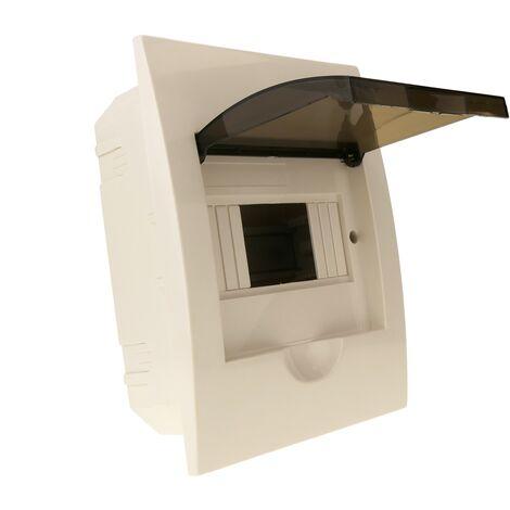 BeMatik - Caja de distribución eléctrica de 6 módulos de empotrar de plástico ABS SPN IP40