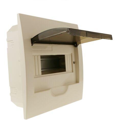 BeMatik - Caja de distribución eléctrica de 8 módulos de empotrar de plástico ABS SPN IP40