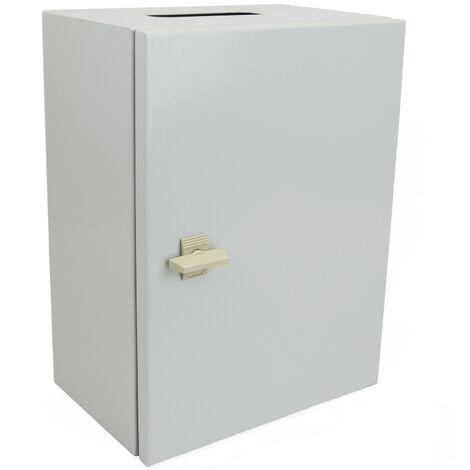 BeMatik - Caja de distribución eléctrica metálica con protección IP65 para fijación a pared 200x200x150mm