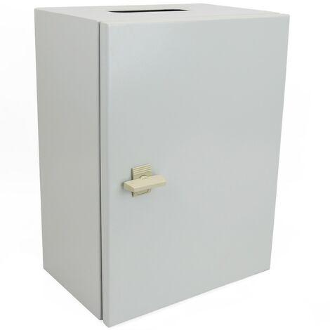 BeMatik - Caja de distribución eléctrica metálica con protección IP65 para fijación a pared 300x250x200mm