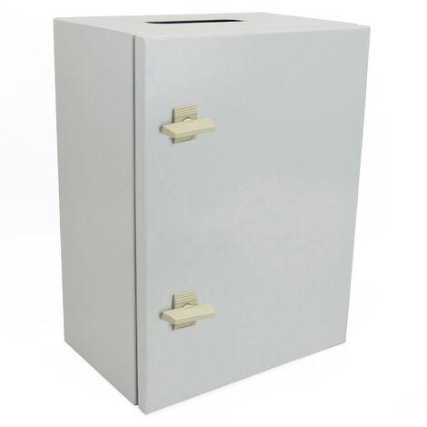 BeMatik - Caja de distribución eléctrica metálica con protección IP65 para fijación a pared 600x400x200mm