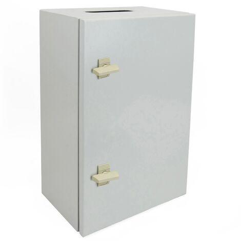 BeMatik - Caja de distribución eléctrica metálica con protección IP65 para fijación a pared 800x600x200mm