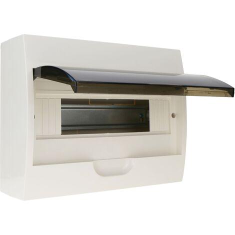 BeMatik - Caja de distribución eléctrica SPN 12M IP40 de superficie de plástico ABS