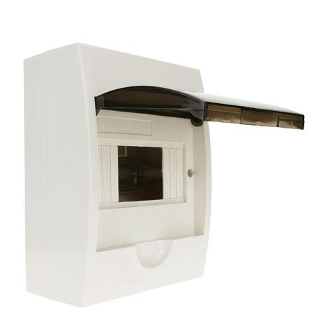 BeMatik - Caja de distribución eléctrica SPN 6M IP40 de superficie de plástico ABS