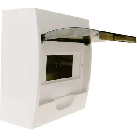 BeMatik - Caja de distribución eléctrica SPN 8M IP40 de superficie de plástico ABS