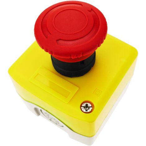 BeMatik - Caja de pulsador de parada de emergencia con bloqueo NC